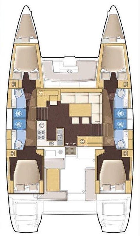 Lagoon 450 F - 4 + 2 cab. (Lalouche)  - 1