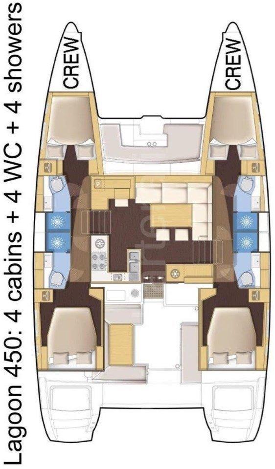 Lagoon 450 - 4 cab. (Poseidon)  - 1
