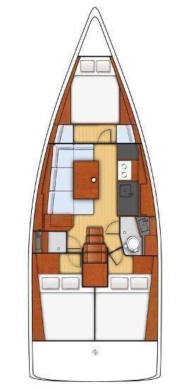 Oceanis 38 - 3 cab. (Kos 38.3)  - 1