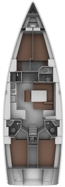 Bavaria Cruiser 46 - 4 cab. (ROZBAV46 -SOLAR PANELS- HEATER- SHALLOW KEEL-EL.TOILETS-TV)  - 1