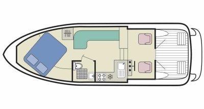 Capri TS (2+1) (Canal boat budget)  - 1