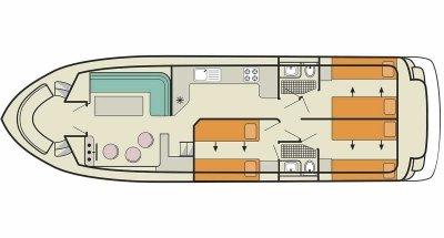 Calypso (6+2) (Canal boat comfort)  - 1