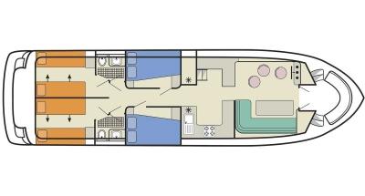 Salsa A (8+2) (Canal boat comfort)  - 1