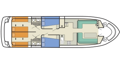 Salsa B (8+4) (Canal boat comfort)  - 1