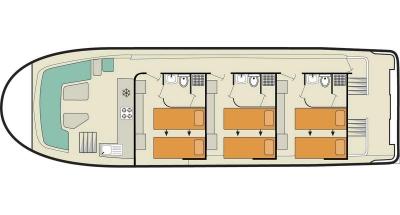 Vision3 SL (6+3) (Canal boat premier)  - 1