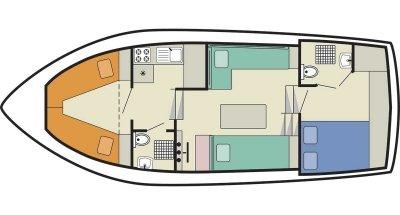 Lake Star (4+2) (Canal boat budget)  - 1