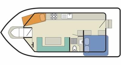 Cirrus B (2+2) (Canal boat budget)  - 1
