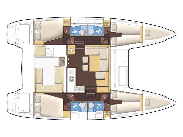 Lagoon 400 S2 Premium (Jimmy Blue)  - 7