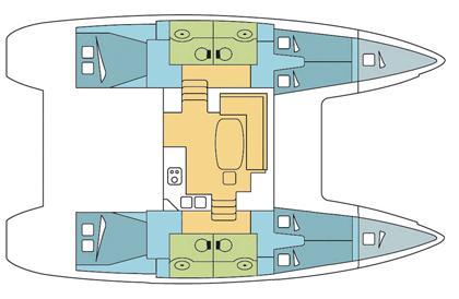 Lagoon 400 S2 with A/C (BYC BOA-VIDA)  - 14