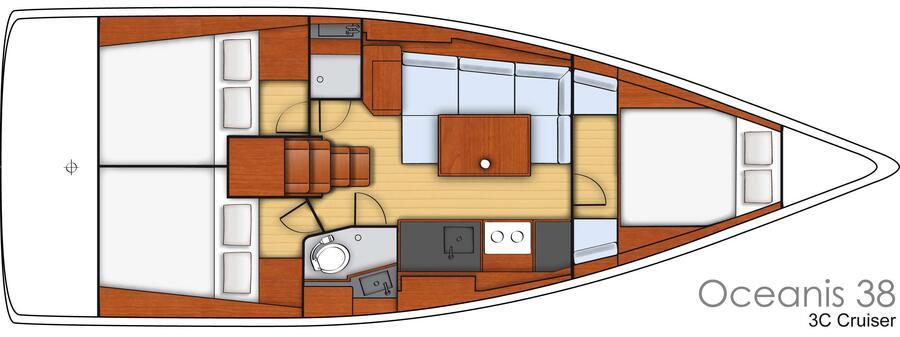 Oceanis 38 (AUDACIOUS D)  - 5
