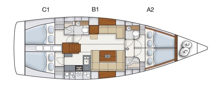 Hanse 445 (Alegria III)  - 16