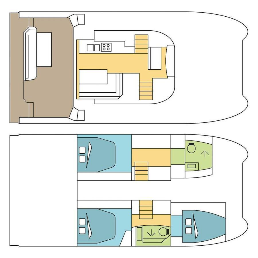 Motor Yacht 37 with A/C (GOYA)  - 8