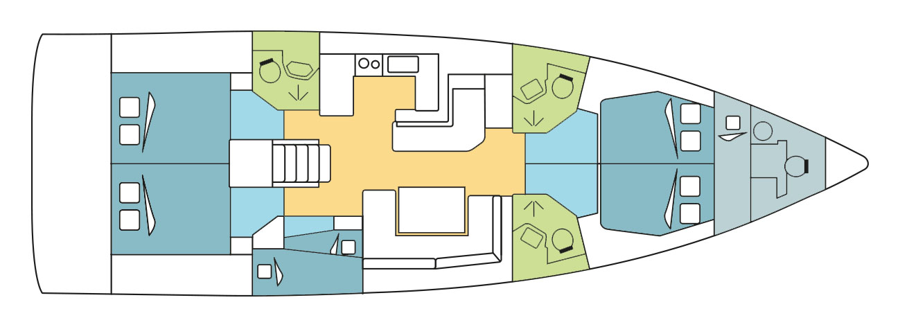 Oceanis 51.1 with watermaker & A/C - PLUS (MODRIAN)  - 6