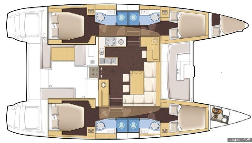Lagoon 450 S (Skippered only) (Lag45003)  - 0
