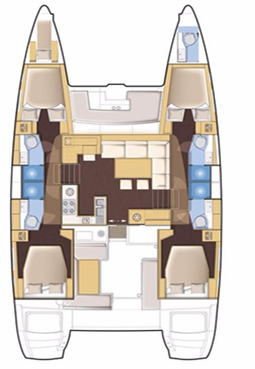 Lagoon 450 F (Amare I)  - 6