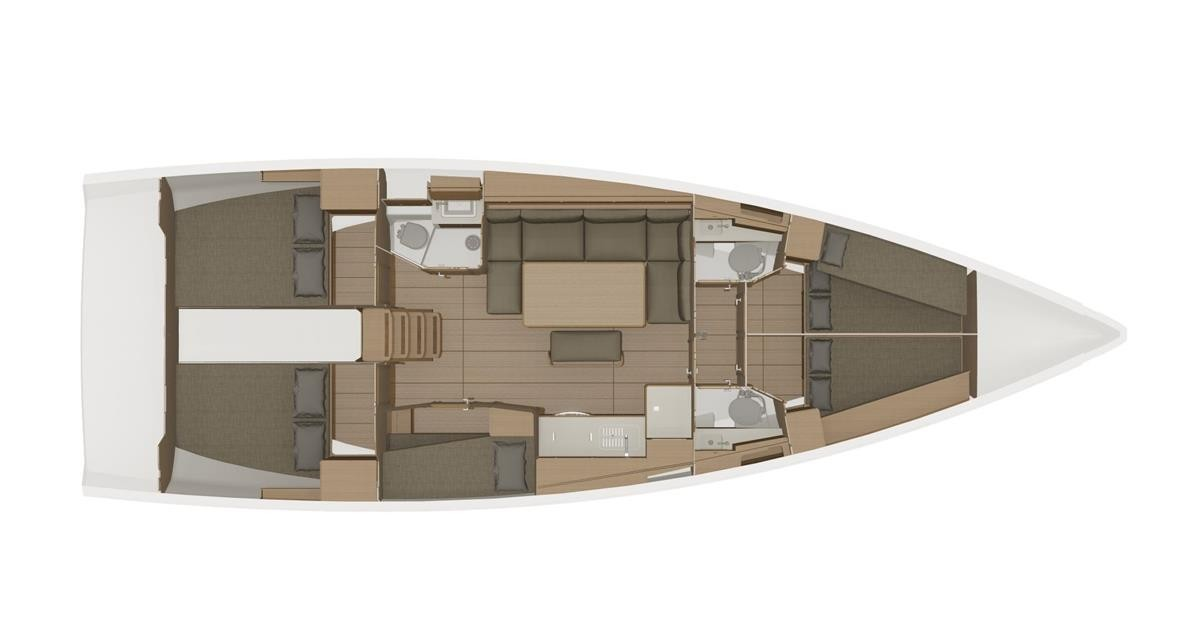 Dufour 460 Grand Large - 5 cabins (WindyLife)  - 2
