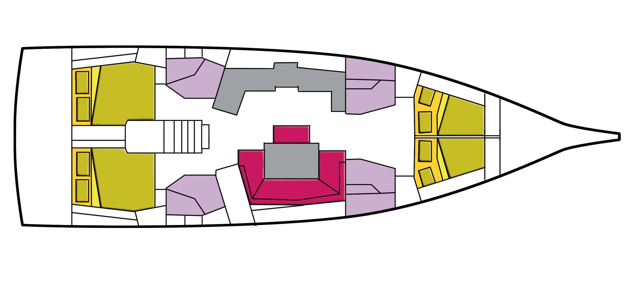 Oceanis 46.1 (Ferro Azzurro)  - 7