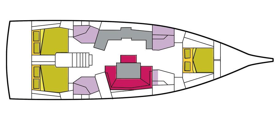 Oceanis 46.1 3 cabins (Altarf)  - 7