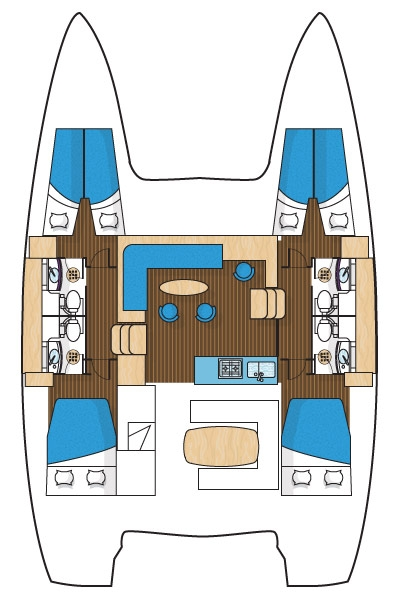 Lagoon 40 - CABIN CHARTER ONLY (Pito Cabin Charter 2)  - 8