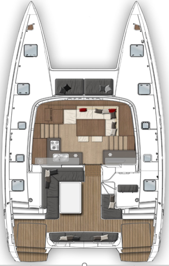 Lagoon 40 - CABIN CHARTER ONLY (Pito Cabin Charter 2)  - 6