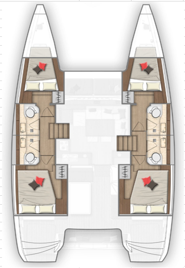 Lagoon 40 - CABIN CHARTER ONLY (Pito Cabin Charter 2)  - 7