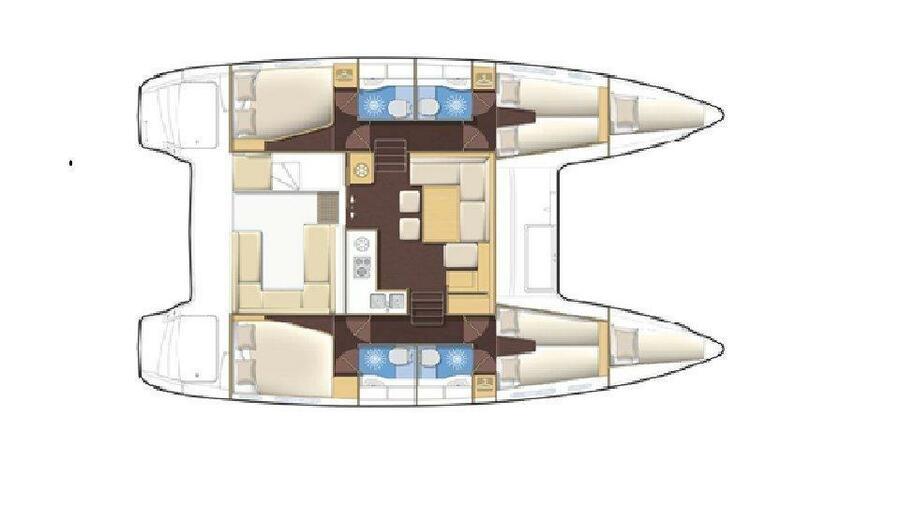 Lagoon 400 S2 (Jema Cabin Charter 4)  - 4