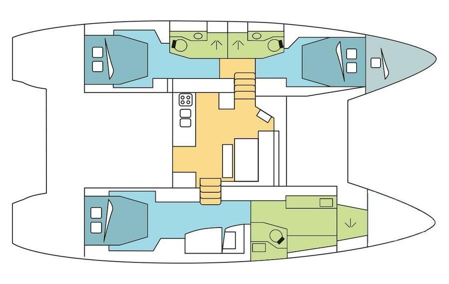 Lagoon 46 O.V. with A/C - Skippered (BRAZIL)  - 12