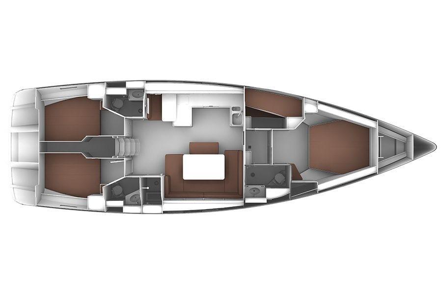 Bavaria Cruiser 51 Aircond 4cab (NOVE 4CAB)  - 1
