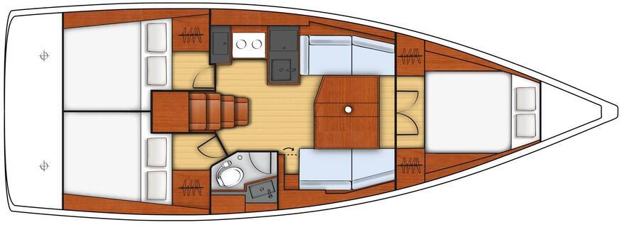Oceanis 381 (BOHEMIAN RHAPSODY)  - 7