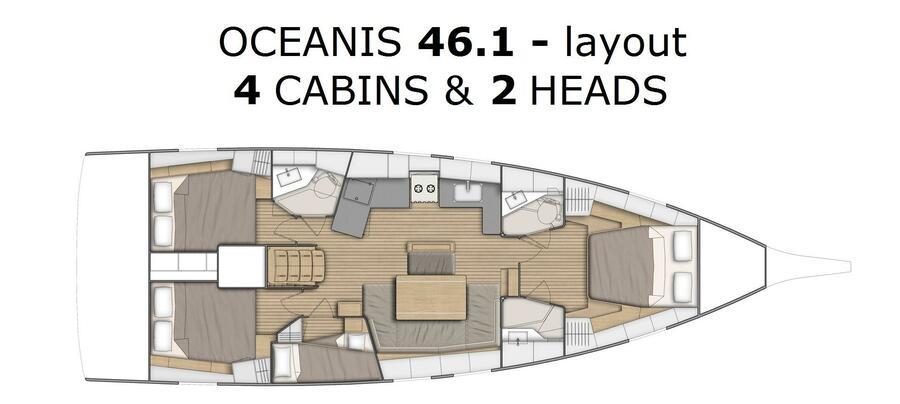 Oceanis 46.1 (Nalu)  - 13
