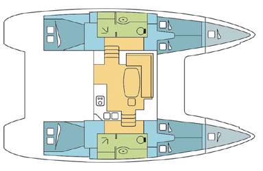 Lagoon 400 S2 with A/C (SILK PANTS_DB)  - 6