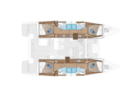 Lagoon 46 (GRAND BLUE (SKIPPERED ONLY))  - 7