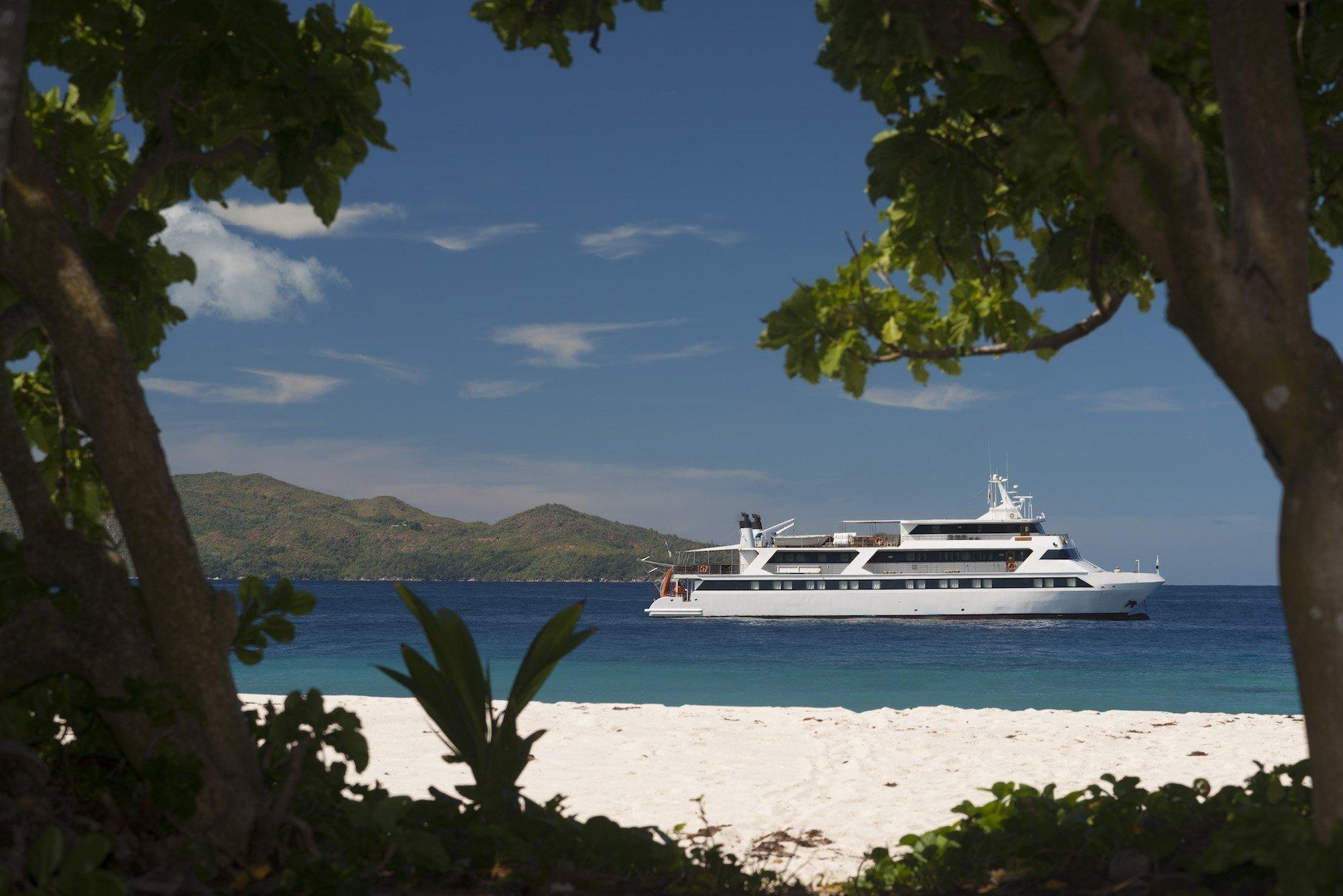 Seychelles on luxury yacht